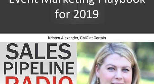 Sales Pipeline Radio, Episode 135: Q&A with Kristen Alexander @savvykristen