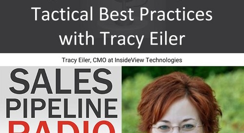 Sales Pipeline Radio, Episode 136: Q&A with Tracy Eiler @tracyleiler