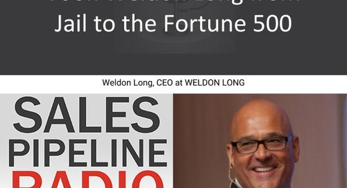 Sales Pipeline Radio, Episode 134: Q&A with Weldon Long @WeldonLong