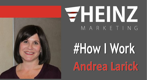 """How I Work"":  Andrea Larick, Speaker Engagement Manager at UBM for Content Marketing Institute Events @A_Larick #HowIWork"