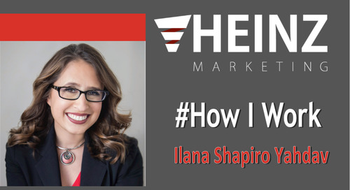 """How I Work"":  Ilana Shapiro Yahdav, marketing programs manager for Conversica @IlanaShapiro #HowIWork"