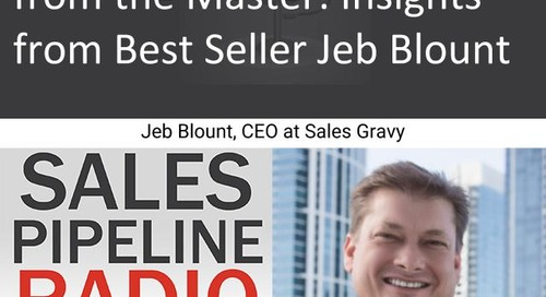 Sales Pipeline Radio, Episode 139: Q&A with Jeb Blount @SalesGravy