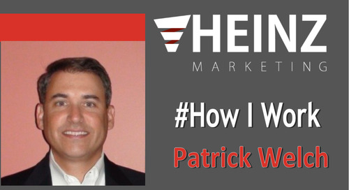 """How I Work"":  Patrick Welch, President & CMO of Bigtincan @patrickfwelch #HowIWork"