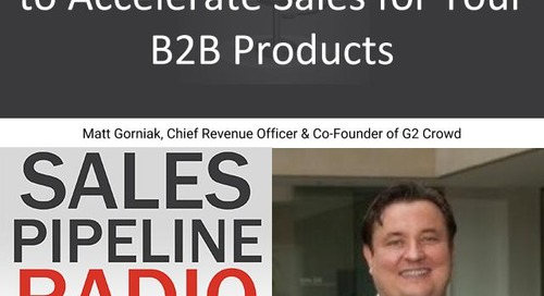 Sales Pipeline Radio, Episode 146: Q&A with Matt Gorniak @mgorniak