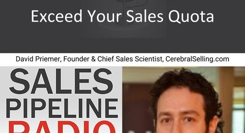Sales Pipeline Radio, Episode 144: Q&A with David Priemer @dpriemer