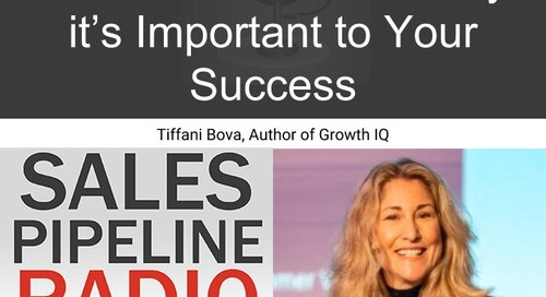 Sales Pipeline Radio, Episode 149: Q&A with Tiffani Bova @Tiffani_Bova