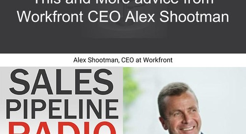 Sales Pipeline Radio, Episode 153: Q&A with Alex Shootman @shootman