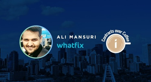Podcast: Contracts over Coffee with Whatfix's Ali Mansuri