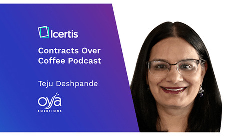 Podcast: Contracts Over Coffee with Oya Solutions' Teju Deshpande