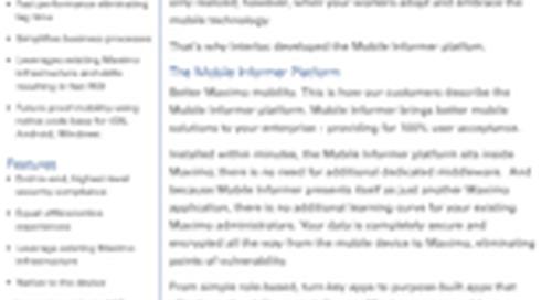 Mobile Informer Data Sheet
