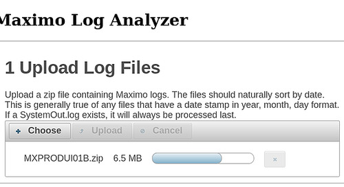 Maximo Log Analyzer