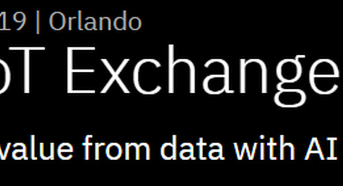 IBM IoT Exchange 2019, April 24th – 26th