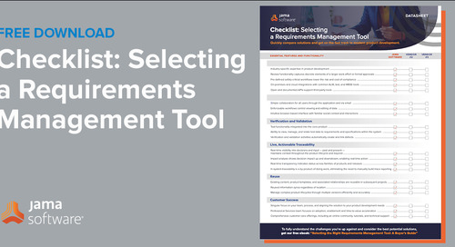 Checklist: Selecting a Requirements Management Tool