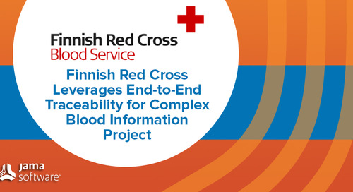 Finnish Red Cross Leverages End-to-End Traceability for Complex Blood Information Project