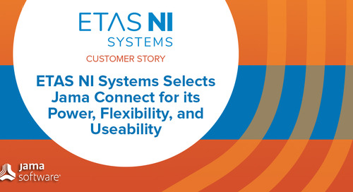 ETAS NI Systems Selects Jama Connect for its Power, Flexibility, and Useability