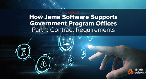 How Jama Software Supports Government Program Offices –Part I: Contract Requirements