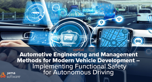 Automotive Engineering and Management Methods for Modern Vehicle Development – Implementing Functional Safety for Autonomous Driving