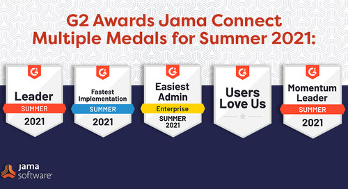 G2 Names Jama Connect® the Leader in Requirements Management Software