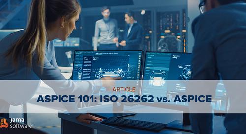 ASPICE 101: ISO 26262 vs. ASPICE