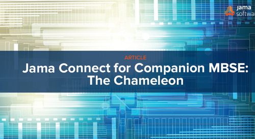 Jama Connect for Companion MBSE: The Chameleon