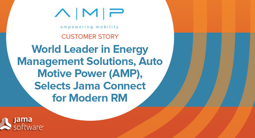 World Leader in Energy Management Solutions, Auto Motive Power (AMP), Selects Jama Connect for Modern Requirements Management