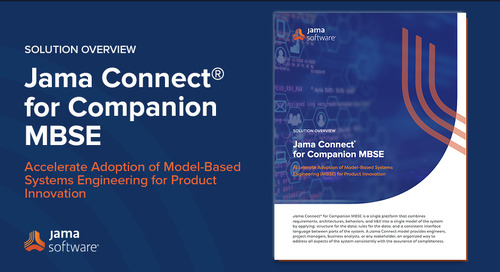 Introducing Jama Connect for Companion MBSE
