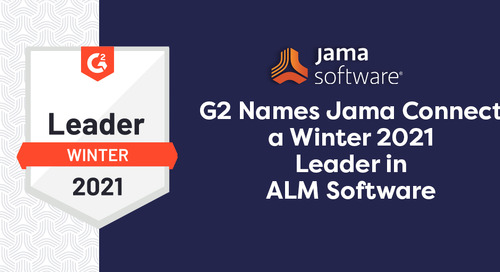 G2 Names Jama Connect a Winter 2021 Leader in ALM Software
