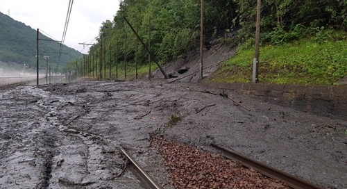 French mudslide test rail contingency plans