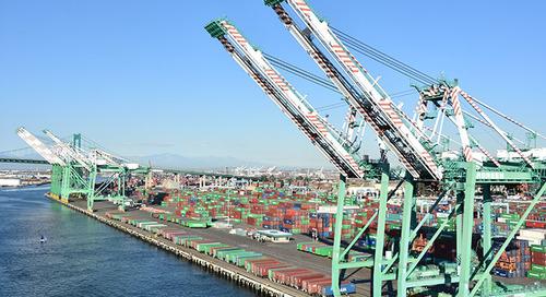 LA-LB truck turn times fall farther on port volume dip