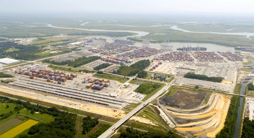 Savannah intermodal surges as rail work pushes ahead