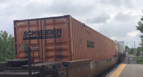 Amazon intermodal move doesn't worry Schneider