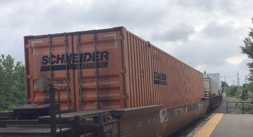 Amazon intermodal move doesn't worry Schneider