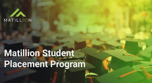 Why We Love Placement Students at Matillion