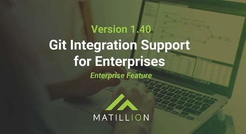 Matillion announces Git Integration Support for Enterprises in Version 1.40