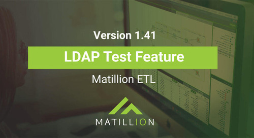 Matillion ETL Release 1.41: How to use the LDAP Test feature