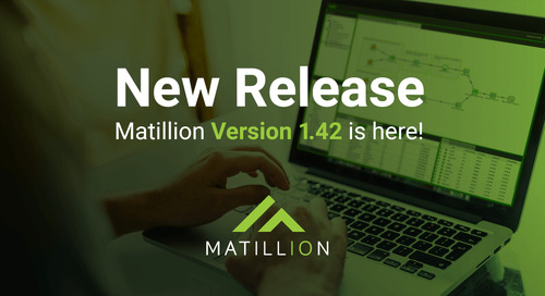 Matillion ETL Release 1.42: New Components, Database Query for SAP Hana, GIT API, and more (VIDEO)
