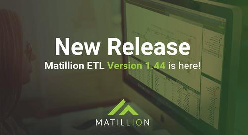 Matillion ETL 1.44 Release Notes