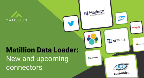 Matillion Data Loader: New Connectors are Here, and More are Coming