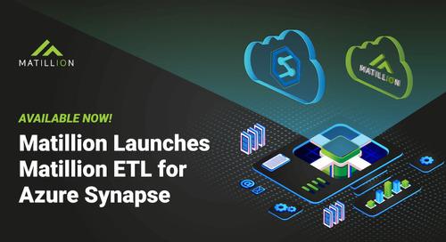 Matillion ETL for Azure Synapse: Now Generally Available on Azure Marketplace