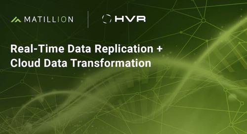 Log-Based Change Data Capture and Data Transformation Together: HVR and Matillion