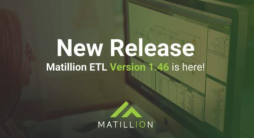 Matillion ETL 1.46 Release Notes