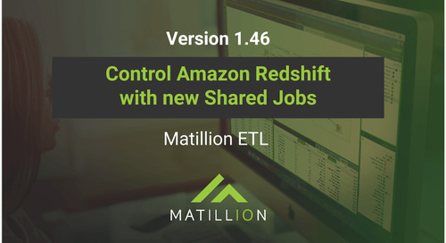 How to Manage Amazon Redshift Clusters Using Shared Jobs