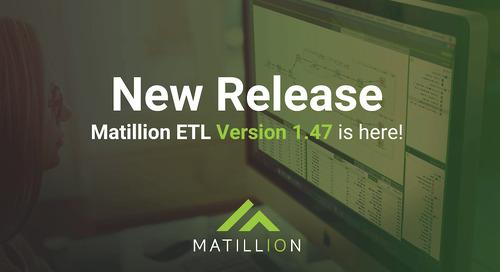 Matillion ETL 1.47 Release notes