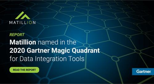 Matillion Named in the 2020 Gartner Magic Quadrant for Data Integration Tools