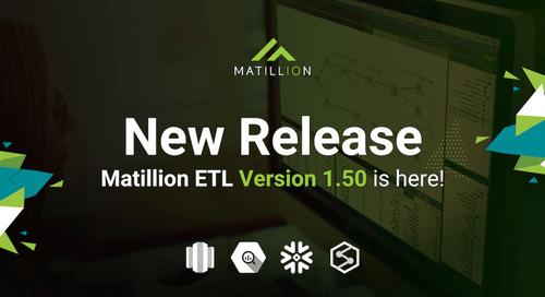 Matillion ETL 1.50 Release Notes