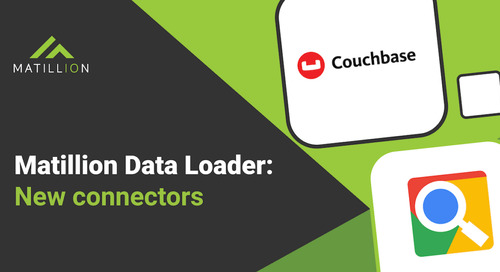 New Connectors in Matillion Data Loader: Google Programmable Search Engine (Google Custom Search) and Couchbase