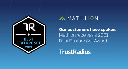 Our Customers Have Spoken: Matillion Receives a 2021 Best Feature Set Award