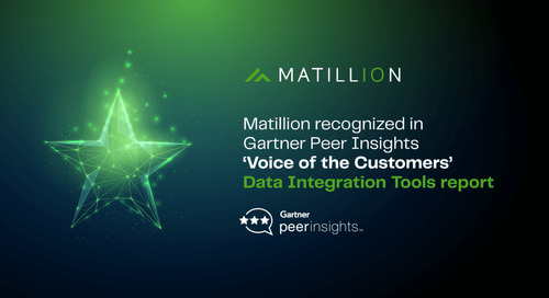 Matillion recognized in 2021 Gartner Peer Insights 'Voice of the Customers': Data Integration Tools report