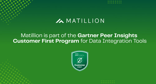 Matillion is Part of the Gartner Peer Insights Customer First Program for Data Integration Tools