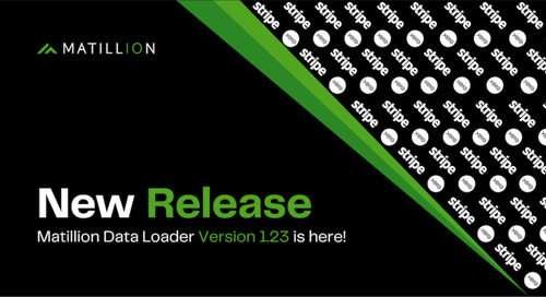Matillion Data Loader 1.23: New Connectors, and More Editable Pipelines, and More Support for Schema Drift